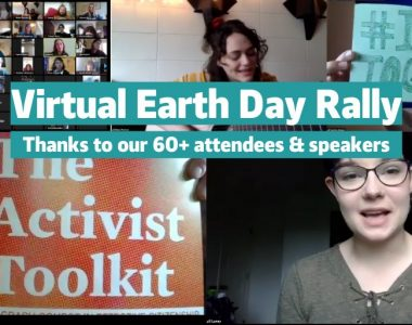 Students at the University of Oregon and Lane Community College hold Earth Day 2020 Virtual Rally