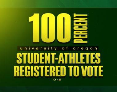 "Ducks ""Keep it 100"" to Mark Voter Registration Day"